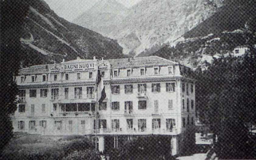 lhotel bagni nuovi poco fuori bormio qui si trovava la sede del commando militare origine libri il sentiero della pace in lombardia p88
