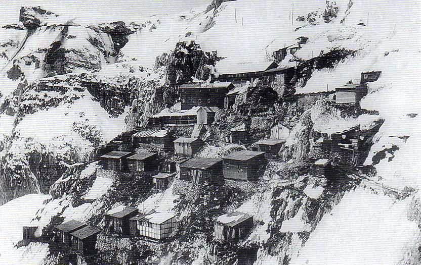 Baracche dell'esercito Italiano alle Porte del Pasubio