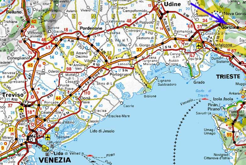 Quelle  www viamichelin de. www it au 1915 1918 com